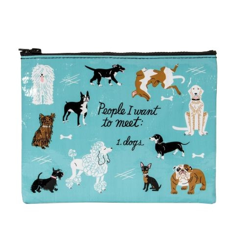 Zipper Pouch - People To Meet: Dogs