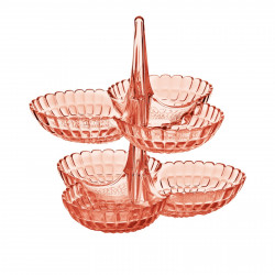 Sale -Guzzini Set of 2 Hors d'Oeuvres Dishes - Coral