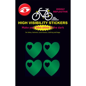 Glow Stickers - Hearts Green