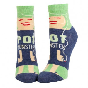 Woman Socks Ankle - Pot Monster