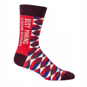 Men Socks - Busy Making A Fucking Difference