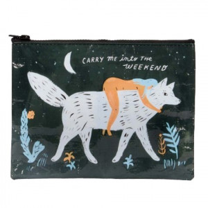 Zipper Pouch - Carry Me Into The Weekend