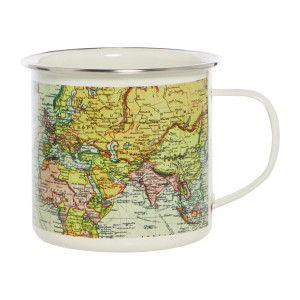 Mug Enamel World White