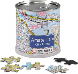Magnetic Puzzle Amsterdam city map