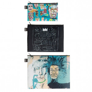 LOQI Zip Pockets  Basquiat - Skull, Crown, Warhol
