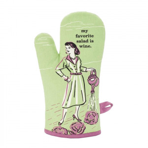 Oven Mitt - My Favourite Salad Is Wine