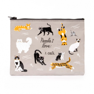 Zipper Pouch - People I Love: Cats