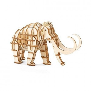 3D Wooden Puzzle - Mammoth