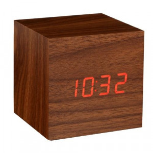click clock walnut red