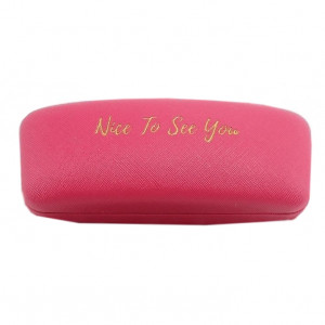 Glasses Case - Nice To See You (Berry)