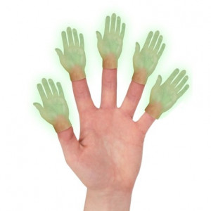 Finger Puppet - Glow in the Dark Hand Left
