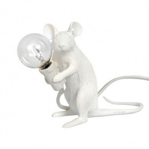 Mouse Lamp - Sitting White