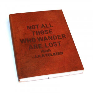 Notebook Leather - Tolkien