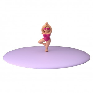 Glass Lid - Beach Girl Purple