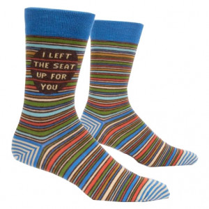 Men Socks - I Left The Seat Up