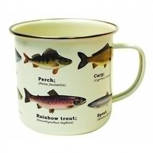Mug Enamel - Multi Fish