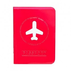 Passport Cover - Happy Flight Red