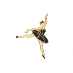 Pin - Ballerina Black