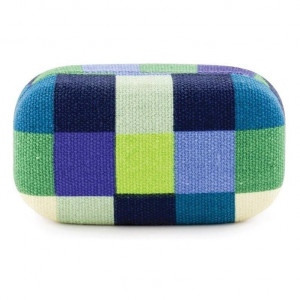 Travel Case Plaid - Blue/Green