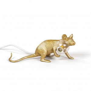 Mouse Lamp - Lie Down Gold