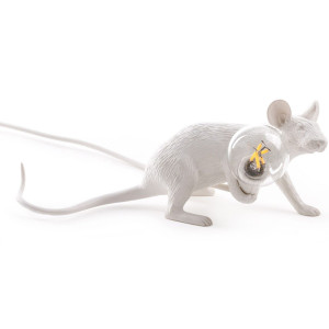 Mouse Lamp - Lie Down White