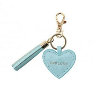 Key Ring Heart - Explore (Blue)
