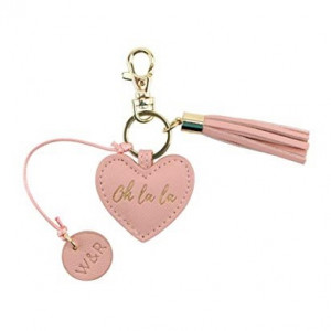 Key Ring Heart - Oh La La (Salmon Pink)