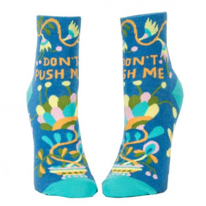 Woman Socks Ankle - Don't Push Me