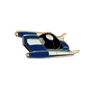 Pin Spaceship Blue