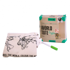World Tote with Colouring Pen