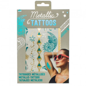 Temporary Tattoos - Metallic Turquoise