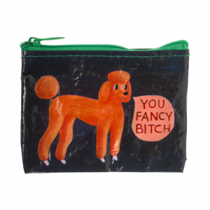 coin purse fancy bitch red dog