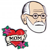 Pins - Freud & Mom
