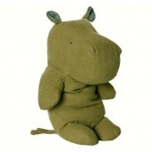 Soft Toy - Large Hippo Green