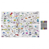 World Map Placemats - Colour Your Own