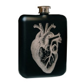 Hip Flask & Funnel - For Medicinal Purposes Heart