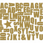 Magnetic Alphabet - Gold