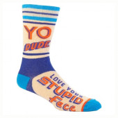 Men Socks - Yo Dude, Stupid Face