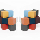 Wooden Puzzle - Elasti Cube set of 2