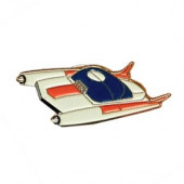 Pin - Spaceship White/Red