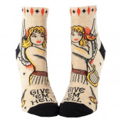 Woman Socks Ankle - Give 'Em Hell