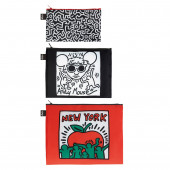 LOQI Zip Pockets - Keith Haring