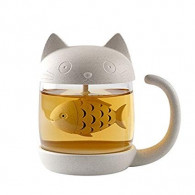 Tea Cup - Cat & Fish
