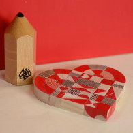 Wooden Blocks - Heart Shapes