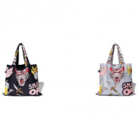 LOQI Tote snake, beer, tiger black aboutnow.nl